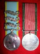 Crimean War Medal Pair 3 Clasps Officially Impressed To The Rifle Brigade