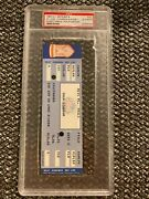 Mets Phillies Full Ticket September 8 1987 Mike Schmidt Hr524 Carreon Debut Psa
