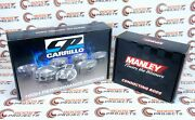 Cp-carrillo 84.5mm Bore 10.21 Cr Pistons And Manley H-beam Rods For Bmw S55b30