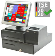 Pro Register System Fujitsu Touchscreen Display Rs-232 Usb Pos Single + Catering