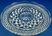 Vintage 1962+ Anchor And Hocking Usa Glass Wexford Cake/bread Serving Plates Vg Au