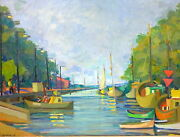 Painting Picture Port Signed For Baracz About 1925