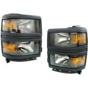 Headlight Lamp Left-and-right For Chevy Lh And Rh Chevrolet Gm2502395c Gm2503395c