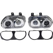 Kit Headlight Lamp Left-and-right Lh And Rh For Challenger Ch2503267, Ch2502267
