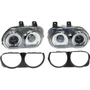 Kit Headlight Lamp Left-and-right Lh And Rh For Challenger Ch2503267 Ch2502267