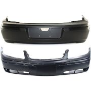 Pair Bumper Covers Set Of 2 Front And Rear For Chevy Gm1000633 12335971 Sedan