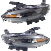 Headlight Lamp Left-and-right Ch2502240c Ch2503240c Lh And Rh For Dodge Dart