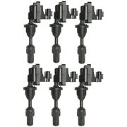 Set Of 6 Ignition Coils For Nissan 300zx Infiniti J30 1993-1997