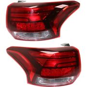 Tail Lights Lamps Set Of 2 Left-and-right Outside Mi2804108 Mi2805108 Pair