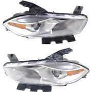 Headlight Lamp Left-and-right Ch2518143c, Ch2519143c Lh And Rh For Dodge Dart