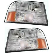 Headlight Lamp Left-and-right For Olds Gm2503174 Gm2502174 16526227 16526228