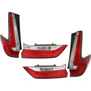 Set Of 4 Tail Lights Lamps Left-and-right Inside Lh And Rh For Honda Cr-v 17-18