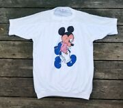 Vintage 1980s Disney Wear Mickey Mouse Backpack Graphic Netting Shirt Size Xl