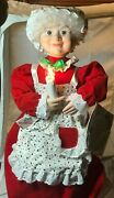 Vintage Telco Motionettes Christmas Animated Illuminated Mrs. Claus 23 Tall Tag