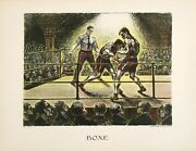 Original Vintage Poster Boxe C1930 By Celes Boxing Sports French Man Cave