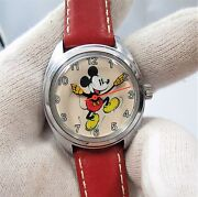 Mickey Mouse Manual Windjumping Mickey Kids/ Ladies Character Watch317