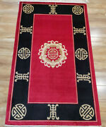 Yilong 3and039x5and039 Red Hand Knotted Home Silk Rug Antique Family Handwoven Carpet