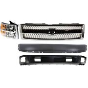 Bumper Kit For 2007-2008 Chevrolet Silverado 1500 Front W/ Tow Hook Holes