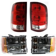 Headlights Lamps Set Of 4 Left-and-right 22853030 20980241 25958484 25958485