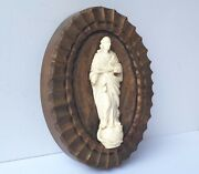Wall Picture Wood Fine Carving Figure Italy About 1840 - 1860 Al1394