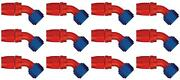 Aeroquip Fcm4022 Hose End Fitting -6 An Hose 45 Degree Elbow Anodized 12 Pack