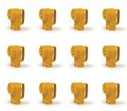 Camco 55343 Power Cord Adapter Power Grip Tm Replacement Receptacles 12 Pack