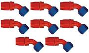Aeroquip Fcm4022 Hose End Fitting -6 An Hose 45 Degree Elbow Anodized 8 Pack