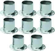 Topline Parts C112s Wheel Center Cap Polished Stainless Steel 8 Pack