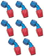 Russell Automotive 610110 Hose End Fitting Full Flow -10 An Hose 8 Pack