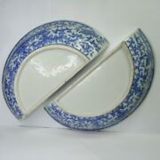 Antique A Pair Of Chinese Blue And White Porcelain Plates 19th Century.