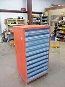 Stanley / Vidmar 11 Drawer Cabinet With Cutler Hammer Parts 111843jw Used