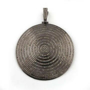 Victorian Reproduction New Jewelry 5.54ct Pave Antique Rose Cut Diamond Pendant