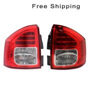 Led Tail Lamp Assembly Set Of 2 Pair Lh And Rh Side Fits Jeep Compass 2011-2013