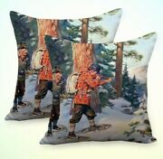 Set Of 2 Bedding Pillowcase Moose Hunting By Phillip Goodwin Cushion Covers