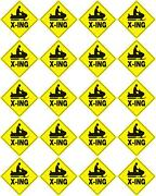 Voss Signs 438 Sx Yr Yellow Plastic Reflective Sign 12 - Snowmobile 20 Pack