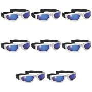 Pacific Coast 4522 Pacific Coast Nomad Sunglasses - Silver Frame/blue 8 Pack