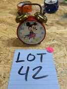 Vintage Mickey Mouse Animated Moving Eyes Alarm Clock Phinney Walker 1960s Read