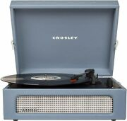 Crosley Cr8017a-wb Voyager Portable Bluetooth Turntable Record Player Wash Blue