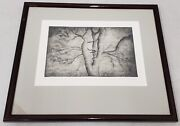 Henry Spencer Moore 1898-1986 Spreading Branches Original Signed Etching