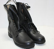 Post Vietnam Leather Combat Boots Size 9r 84and039 Dated