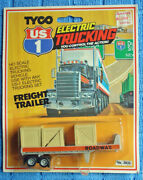 Tyco Us1 Flatbed Roadway Trailer, Electric Trucking, 3932, Mint On Card