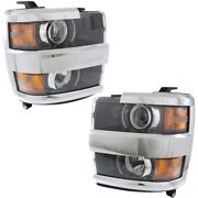 Gm2502416c Gm2503416c Headlight Lamp Left-and-right For Chevy Lh And Rh Chevrolet