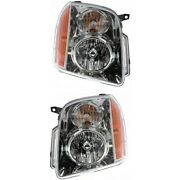 Headlight Lamp Left-and-right For Yukon Gm2503265 Gm2502265 20969894 20969895