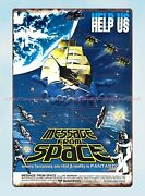 Retro Signs Message From Space Horror Sci Fi Movie Poster Metal Tin Sign