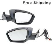 Lh And Rh Side Set Of 2 Manual Folding Power Heated Mirror Fits Volkswagen Passat