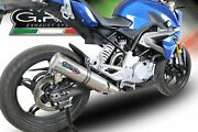 Bmw G310 R/gs 2017-2018 Gpr Exhaust Full System With M3 Titanium Moto3 Silencer