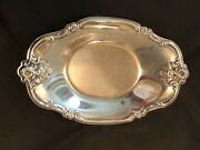 International Silver Company 448 Silverplate Orleans Roses Oval Tray Vgc