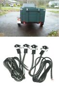 4x Red Led Boat Light Waterproof 12v Courtesy Bow Trailer Auxiliary Marker