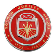 Ford Golden Jubilee Tractor Corn Farm Motor Company Round Mdf Wood Sign