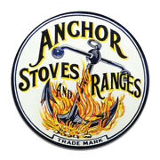 Anchor Stoves And Ranges Ovens Kitchen Appliances Ad Round Mdf Wood Sign
